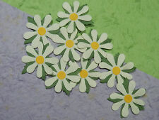50 WHITE Paper DAISIES MPFF19WY::: Wedding Party Card Scrapbooking Embellishment