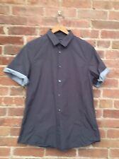 Jil Sander Mens Shirt Gray Cotton Italy Size 16/41 Large Slim