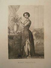 Gravure 19°  Portrait  personnage révolution : Madame Tallien