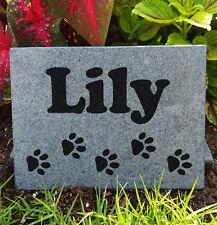 "8x6"" Tombstone Laser Engraved Custom Made, graver marker, pet stone, dog stone"