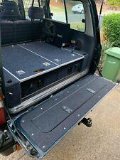 80 series landcruiser tailgate storage with marine carpet fzj80 hzj80 hdj80 fj80