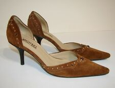 MICHAEL KORS Heels Shoes Brown Leather Suede Kitten Astor 5.5 Authentic