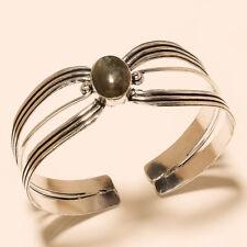 Cuff Fashion Jewelry Free Size Labradorite 925 Sterling Silver Plated Bangel