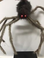 Gemmy Halloween Animated Shaking Hanging Brown Furry Spider