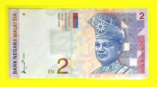 MALAYSIA $2 Ringgit 2nd Series Paper Currency Banknote
