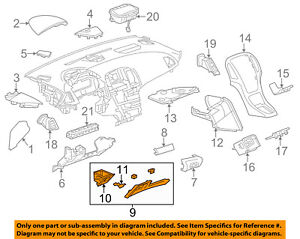 Buick GM OEM 12-15 Verano Instrument Panel Dash-Knee Bolster 22869767
