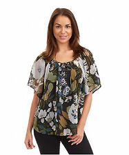 Polyester Yes Blouse Floral Tops & Shirts for Women