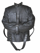 real leather straight jacket | eBay