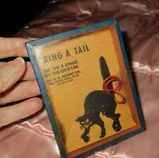 Vintage 40's Ring A Tail Cool Scary Black Cat Game For Halloween A.C. Gilbert Co