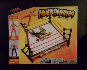 TNA HULKAMANIA & TNA SIX SIDED WRESTLING RING PLAYSETS (NEW) + FREE BUNDLE LQQK