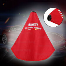 MUGEN shift knob Shifter Boot Cover MT/AT w/ Red Stitches Racing Fabric JDM