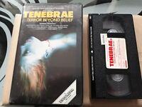 TENEBRAE / PRE CERT DPP 39 VIDEO NASTY / VIDEOMEDIA / VHS PAL / DARIO ARGENTO