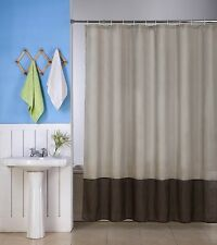 1 H10  TAUPE/BROWN WATER REPELLENT SHADES FABRIC BATHROOM SHOWER CURTAIN