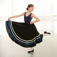 1st Position Character Skirt, Black with 3 coloured ribbons, Velcro waist
