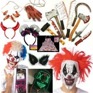 Halloween Accessories Costume Fancy Dress Headband Fake Weapons Wolf Gory LOT
