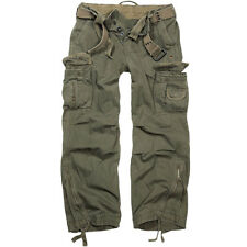 Brandit Men's Royal Vintage Trousers Cargo Incl. Belt Sizes S - 7xl M Olive