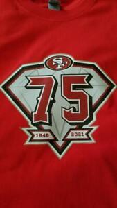SAN FRANCISCO 49ERS 75TH ANNIVERSARY ( ROOKIE ) #5 TREY LANCE T-SHRT JERSEY