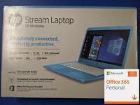 """New HP Stream Laptop 14-cb011wm 14"""" 32GB Celeron N3060 -Blue- 1 YR OFFICE 365"""