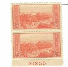s124 stamp 2 cent National Park Issue Plate Single with extra stamp MNH
