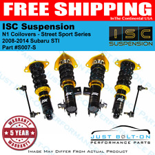 ISC Suspension N1 Coilovers Street Sport fits 2008-2014 STI Only - S007-S