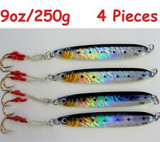 Qty 4 Knife Jigs 9oz/250g Sardine Vertical Butterfly Saltwater Fishing Lures