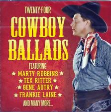 TWENTY-FOUR COWBOY BALLADS - Marty Robbins,Tex Ritter,Gene Autry (NEW SEALED CD)