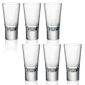 Bormioli Rocco Ypsilon 70ml Double Shot Glasses Toughened Whisky Shooter Drink