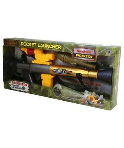 Kids Army Toy Rocket Grenade Launcher Boys Play Gun Soldier Rifle Weapon Mortar