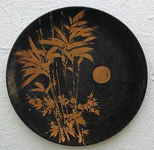 Keramik Wandteller Karlsruher Majolika sehr groß , selten und sammelwürdig !