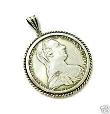 Münzanhänger Silberanhänger Maria Theresia Taler 835er Silber Fassung