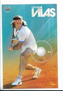 ARGENTINA 2009 SPORTS IDOLS GUILLERMO VILAS TENNIS PLAYER SOUVENIR SHEET MNH