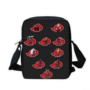 Naruto0 4PCS School Backpacks Set Pen Bag Lunch Bag Shoulder Bag Lot Teenagers