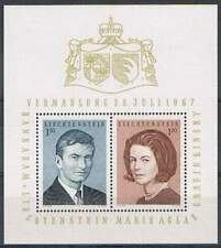 Liechtenstein postfris 1967 MNH block 7 - Verloving Hans-Adam Marie (S0739)