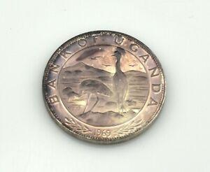Republic of Uganda 5 Shillings 1969 Silver Proof