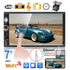 "7"" 2DIN Car Radio Stereo HD Bluetooth Touch Screen USB TF Car MP5 Player+ Camera"