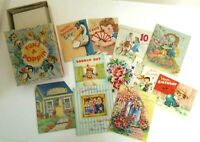All Occasion Cards & Envelopes VTG 11 Unused Cards With Box 1950's 60's