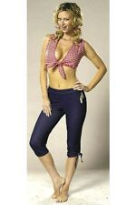 Farmer's Daughter Costume Cowgirl Crop Top Country Sexy Capri Pants