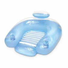 Inflatable Aqua Lounge Sit Float Swimming Pool Raft Chair Water Lounger Quality