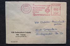 DDR Firmen Stempel - VEB Technodruck Leipzig Technische Schiebebilder- Brief /S3