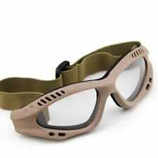 Airsoft Paintball Eye Protective Clear Goggles Glasses High Quality Army Tan