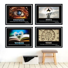 """Inspirational Motivational Quotes Canvas Poster Wall Decor Unframed SC29 24""""x16"""""""
