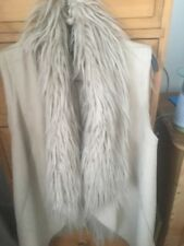 Warehouse Ladies Fake Fur And Suede Gilet
