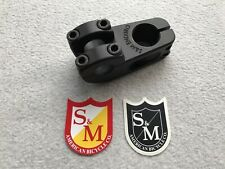S&M Bikes Enduro Top Load BMX Stem Black 55mm Reach TL Topload 30mm Rise Sticker
