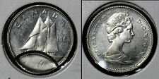 NICE COLLECTION - CANADA ERROR 10 cents 1968 - Obverse Brockage (b507)