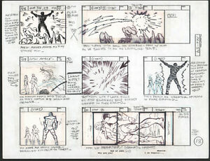 He-Man Masters of the Universe Production Storyboard Art 1980s - 54 p.18 Negator