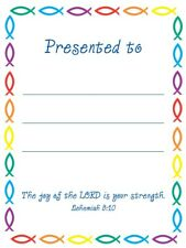 20 Children's Presentation Labels With Bible Text - EB148