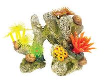 Classic Coral Stone Aquarium Ornament with Silicone Corals & Anemones 3060