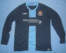 West Ham United / #14 - 2009-2010 Away - UMBRO - MENS LS Jersey / Shirt. Size: L