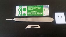 10 Surgical  Blades# 12 with Scalpel Handle # 3 Dental