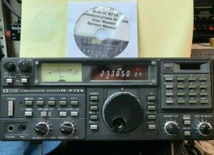 ICOM IC R71A HF COMMUNICATIONS RECEIVER WITH NEW LITHIUM BATTERY AND EPROM FLASH